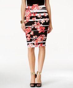 Thalia Sodi Printed Pencil Skirt, Only at Macy's | macys.com
