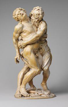 Hercules and Achelous, mid-17th century Attributed to the Master of the Martyrdom of Saint Sebastian Austrian Ivory