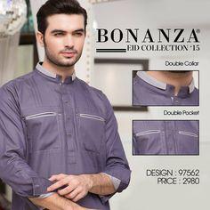 Bonanza Exclusive Men Kurta Eid Collection'15 Mens Shalwar Kameez, Kurta Men, Mens Kurta Designs, Salwar Designs, Pathani For Men, Formal Shirts For Men, Men Shirts, Mens Indian Wear, Boys Kurta Design