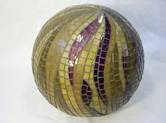 Mosaic by Virginie Loÿ Mosaic ball Love the combination of purple and gold