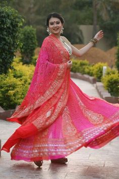 7 Mtrs Gher Lehnga available only at Mangalya Sarees Ahmedabad