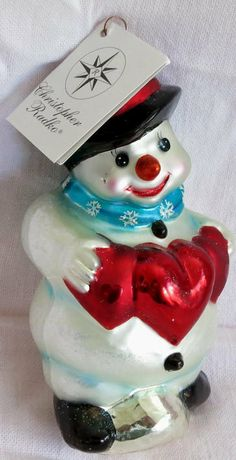 Christopher Radko Love You This Much Snowman Christmas Ornament          http://www.rubylane.com/item/494613-rad7-bg3482/Christopher-Radko-Love-You-This
