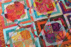 Kaffe Quilt - Custom Machine Quilting by Natalia Bonner