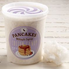 Pancakes & Maple Syrup Cotton Candy and more Weird Gift Ideas at Perpetual Kid.   Sugary clouds of taste bud fun, his all natural cotton candy features the classic combo of pure maple syrup over buttered pancakes because life is butter when they're together! An exclusive recipe, you won't find this anywhere else. Did we mention it is made in the USA and is only 110 calories to down the whole thing!?