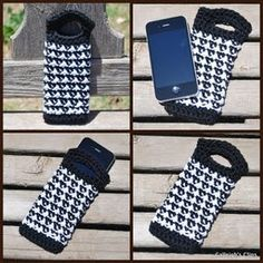 """Houndstooth"" Iphone/Ipad Purse"