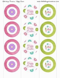 Easter Party Printables-Flowers