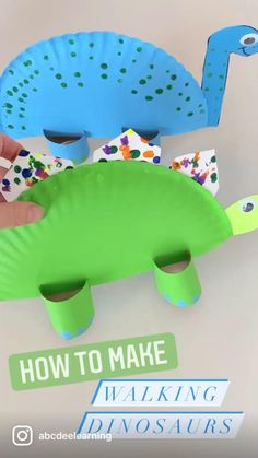 Kids Activities At Home, Toddler Arts And Crafts, Preschool Learning Activities, At Home Crafts For Kids, Preschool Activities At Home, Paper Plate Crafts For Kids, Kids Crafts, Dinosaur Crafts Kids, Dinosaur Theme Preschool