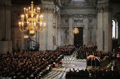 Margaret Thatcher funeral: Family says private goodbye after a stunning send-off | Mail Online