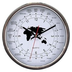 Beautiful wall #clock in silver. www.inart.com