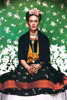 Frida Kahlo in all her glory, circa 1937. Photo by Nickolas Muray.