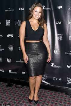 Work it: Top model Ashley Graham put her stunning figure on display as she took part in Fo...