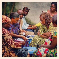 A Kiva borrower group in Senegal.