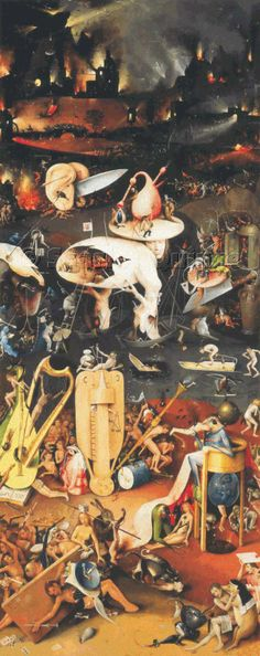 Scarlet Quince cross stitch chart: The Garden of Earthly Delights (detail) - Hieronymus Bosch