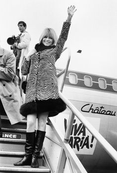 Brigitte Bardot, December 16, 1965 At Orly Airport in Paris.