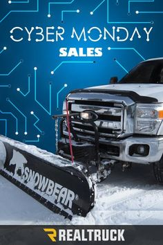 Cyber Monday Deals start Nov. 27th! RealTruck.com has the snow plow accessories you have been searching for! From blades to mounts, RealTruck carries a wide variety of products that will help get your pickup, SUV or Jeep outfitted for the snow. Whether you choose K2, SnowSport, First Trax, Meyer, SnowBear or other top brands, we'll help get your vehicle ready to tackle what mother nature throws at you - for a price you'll love. Shop now, these deals won't last!