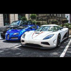 chrome koenigsegg agera | Great Lineup! Koenigsegg Agera R & Chrome Bugatti Veyron | Super Cars