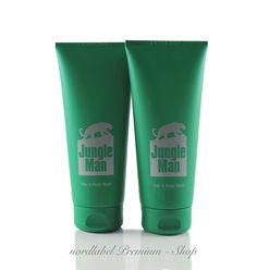 LR Jungle Man Parfümiertes Haar- und Körper-Shampoo 2 x 200 ml NEU & OVP!