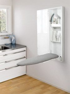 Built In Ironing Board Cabinet Raw Wood, Iron Storage, Hide Away, Stow,  Fold Away | Top Ten Best Wall Mount Ironing Board Reviews | Pinterest |  Tops, Wall ...