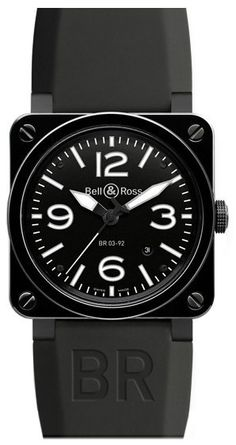 Bell & Ross Watch BR 03 92 Ceramic Black Watch available to buy online from with free UK delivery. Sport Watches, Cool Watches, Men's Watches, Bell Ross, Rubber Watches, Automatic Watches For Men, Black Stains, Watch Sale, Watch 2