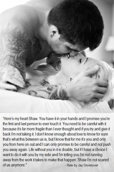 Rule by Jay Crownover -  Heart is molten lava