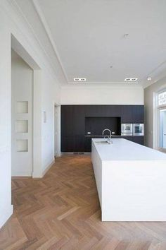 Wondrous Unique Ideas: Minimalist Interior Design Wabi Sabi boho minimalist kitchen home.Minimalist Home Art Minimalism modern minimalist interior bedroom.Minimalist Home Scandinavian Apartments. Interior Design Minimalist, Modern Kitchen Design, Modern Design, Modern Interior, Modern Contemporary, Planchers En Chevrons, Minimalist Kitchen, Modern Minimalist, Minimalist Bedroom