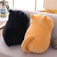 Stuffed Animal Cat, Cute Stuffed Animals, Stuffed Toy, Super Cute Kittens, Kittens Cutest, Chat Kawaii, Cat Cushion, Cushion Pillow, Cat Pillow