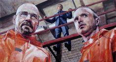 Walt, Gus, and Jesse from Breaking Bad by thegryllus.deviantart.com on @deviantART