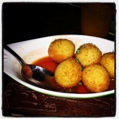 De entrada...Croquetas de risotto! #Bistronomy #BistronomyBogota