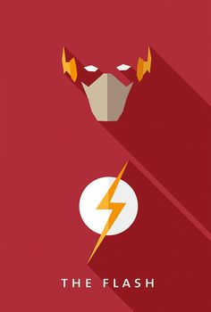 Flat design movie/comic heroes & villains