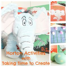 Fun Horton Hears A Who and Horton Hatches the Egg activities to do with your kids. Dr. Seuss-A-Thon at Taking Time to Create. www.takingtimetocreate.blogspot.com