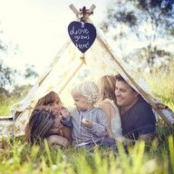 Family Tent...ours usually happens on Saturday mornings in our living room - dining table chairs and mismatched sheets required!