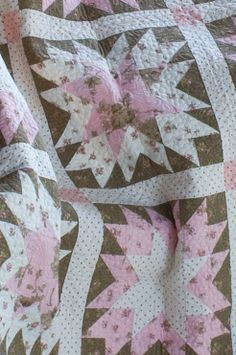 Kimberly's gorgeous Strawberry Skies quilt in Fons & Porter's Love of Quilting!