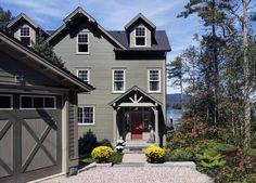 Top 50 Best Exterior House Paint Ideas - Color Designs Best Exterior House Paint, Exterior Paint Colors, Exterior House Colors, Paint Colors For Home, Cottage Exterior, Exterior Design, Southern Living, Bungalow, Color Combinations Home