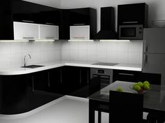 Bagaimana, apakah Anda juga tertarik untuk menempatkan lemari bernuansa hitam di dapur Anda