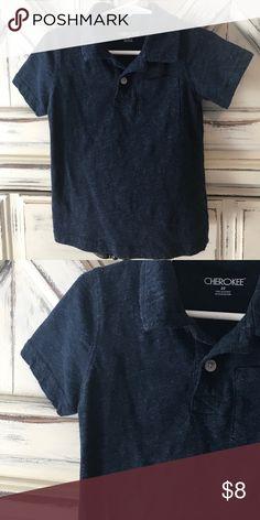 441941ca6 Dark heather blue pocket golf ⛳ shirt! Sz 3T Dark heather blue pocket