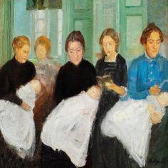Anna Ancher - Christening In Skagen Church