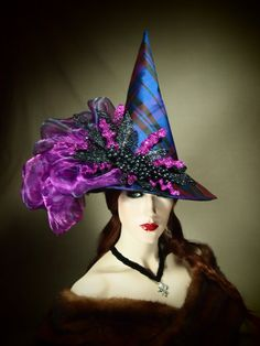 "Couture Witch Hat ""Salems Lot"" 21"" One of a Kind."