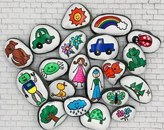 Story Starters Sets, Story Stones, Story Tokens, Pretend Play, Imaginative Play, Reading Teacher Gift, Gift for Kids, Story rocks