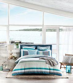 A fresh take on coastal #bedroom #bedbathntable