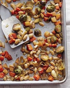 Roasted Winter Vegetables with Cannellini Beans, Wholeliving.com #detox #dinner