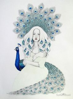 Sofia Bonati is a self taught artist from Argentina currently living in Englefield Green (UK). Her interests include illustration, painting and design. Art And Illustration, L'art Du Portrait, Portraits, Fantasy Kunst, Fantasy Art, Anime Comics, Framed Prints, Canvas Prints, Art Prints