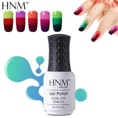 HNM Temperature 3 Color Changing Gel Nail Polish 8ml Mood Nail Gel Polish UV Vernis Semi Permanent Gel Lak Gel Varnish Gelpolish