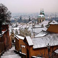 #snowy #prague