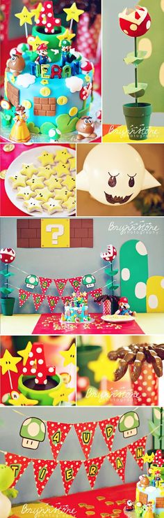 Brynnstone Photography: Tieran is 4 | Super Mario Birthday Party