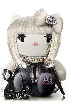 Fan-Made Pop Culture Hello Kitty Toys Are Cute, Possibly Illegal joseph-senior-hello-kitty-pop-culture-lady-gaga – UPROXX Sanrio Hello Kitty, Chat Hello Kitty, Hello Kitty Toys, Toy Art, Lady Gaga, Hello Kitty Characters, Kitty Images, Miss Kitty, Hello Kitty Collection