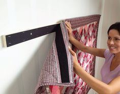 Hang Blanket On Wall hanging a wall quilt using command strips | remember this