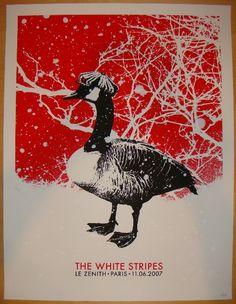 2007 The White Stripes - Paris Jack Concert Poster by Rob Jones