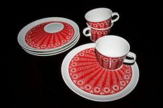 Finally, a saucer big enough to put your morning snack on!----  Arabic.