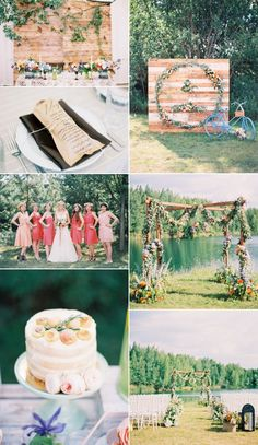 Inspirational Wedding Ideas #225: Blush + Coral + Rustic - http://www.diyweddingsmag.com/inspirational-wedding-ideas-225-blush-coral-rustic/