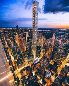432 Park Avenue - Manhattan, New York City, New York - Photo by Liam Tansey 432 Park Avenue, City Landscape, Urban Landscape, Manhattan New York, City Aesthetic, City Photography, City Lights, Amazing Architecture, Belle Photo
